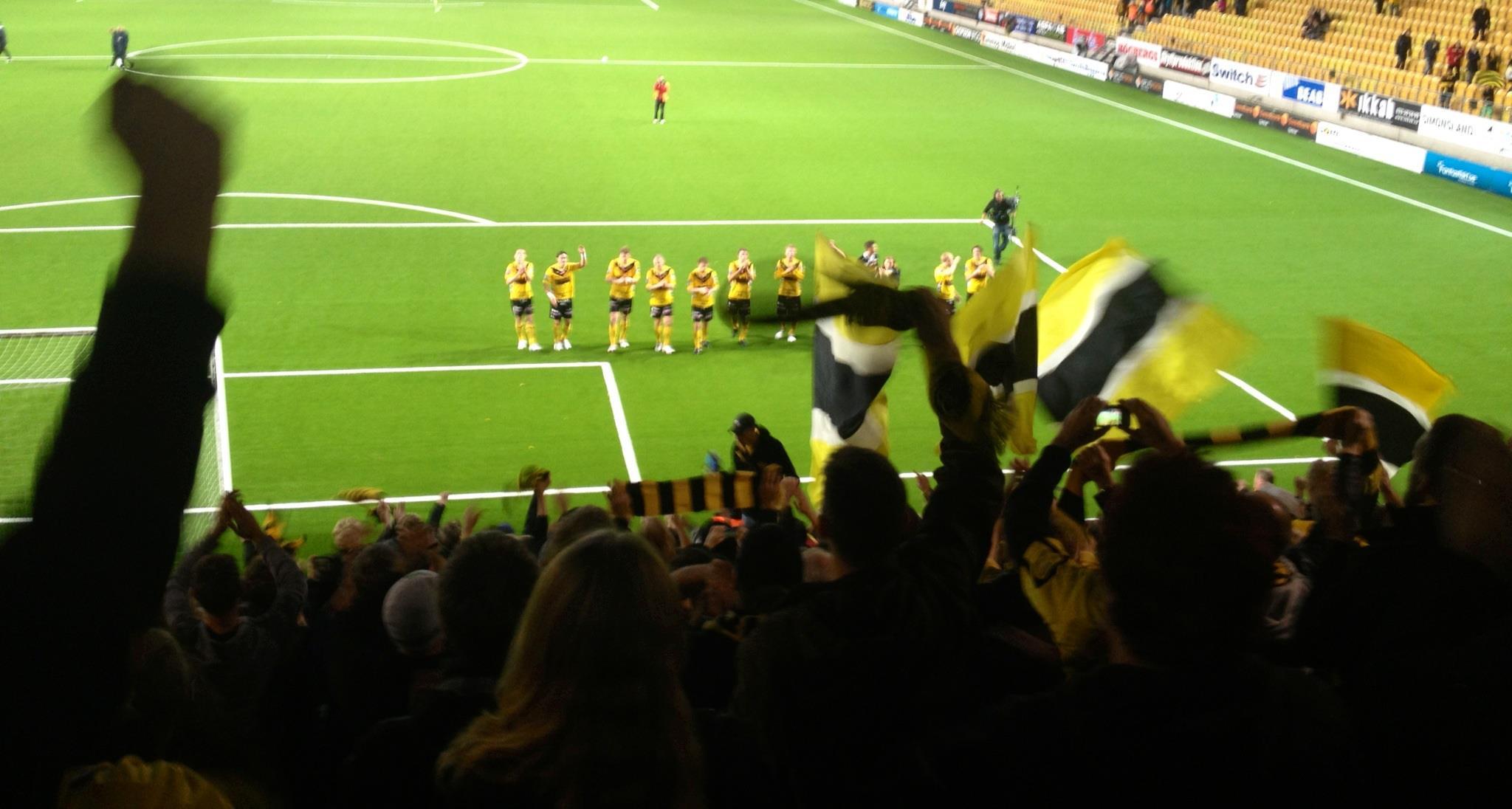 Igår firade vi segern mot ÖSK och att Guliganerna slog vårt medlemsrekord!