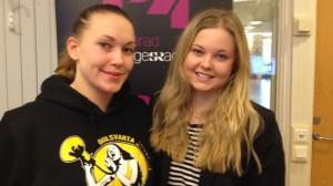 Zarah och Maria blev idag intervjuade av P4 Sjuhärad